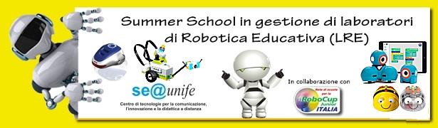 CORSO DI PERFEZIONAMENTO SUMMER SCHOOL IN GESTIONE DI LABORATORI DI ROBOTICA EDUCATIVA (LRE) – Aperte le iscrizioni